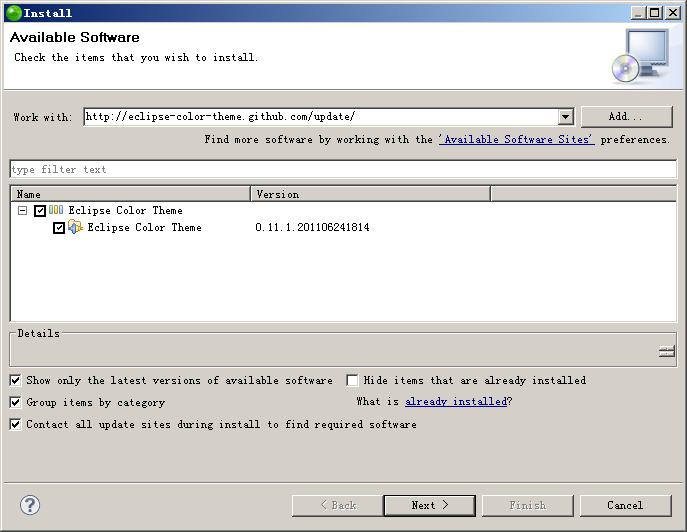 更新站点安装Eclipse Color Theme第一步.png