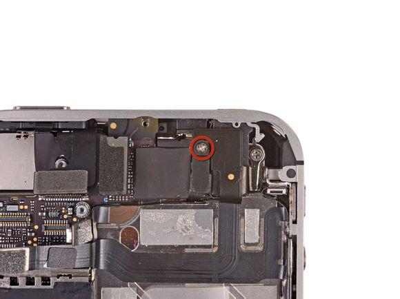 iPhone 4S顶部主板螺丝位置
