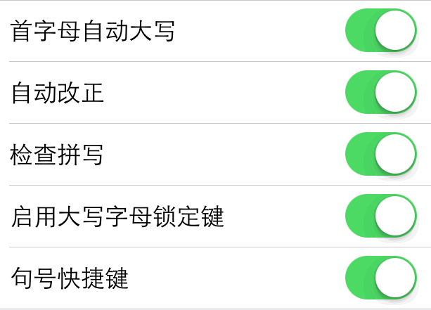 苹果手机iphone表单设置选项